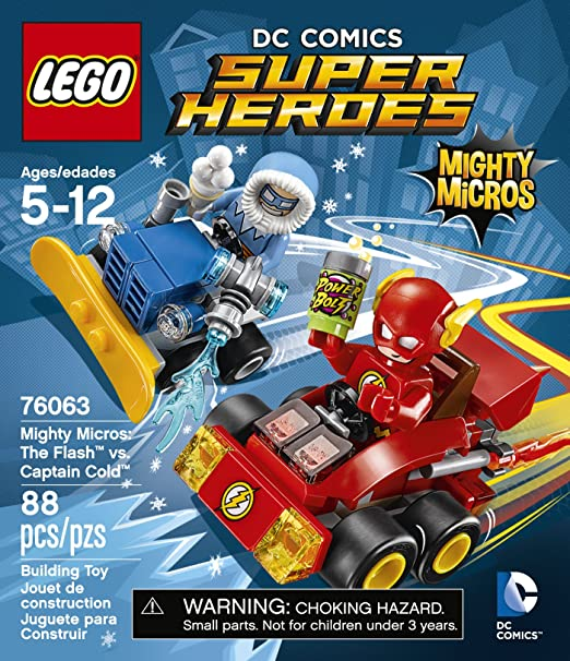Amazon.com: LEGO DC Comics Super Heroes Mighty Micros: The Flash Vs.  Captain Cold (76063): Toys U0026 Games