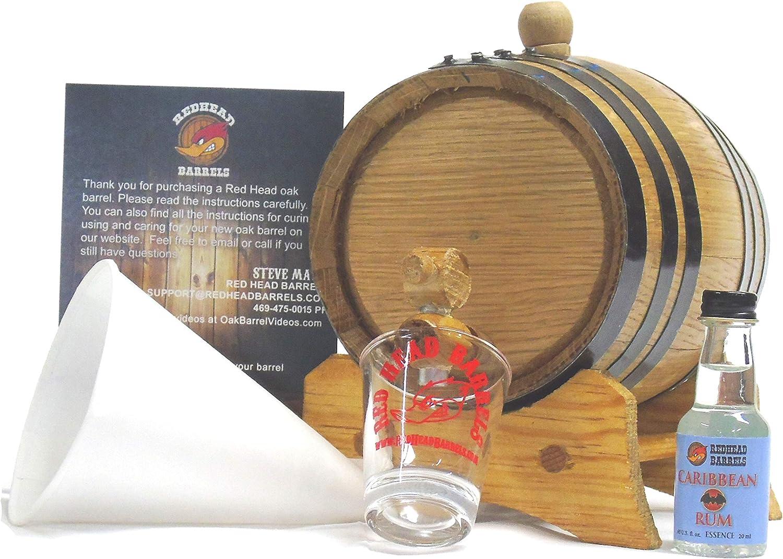 Red Head Barrels 1 Litro Charred Barril de Roble Sabor Kit w ...
