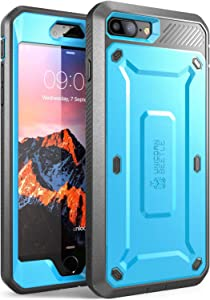 Supcase Unicorn Beetle Pro Series Phone Case Designed for Iphone 8 Plus, with Built-In Screen Protector Full-Body Rugged Holster Case for Apple Iphone 7 Plus 2016/ Iphone 8 Plus 2017 Release (Blue)