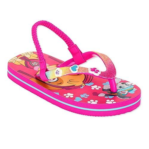 f71ef731a724 ACI Paw Patrol Flip Flop Sandals For Toddler Little Girls Skye Everset  Glittery Summer Beach Shoe