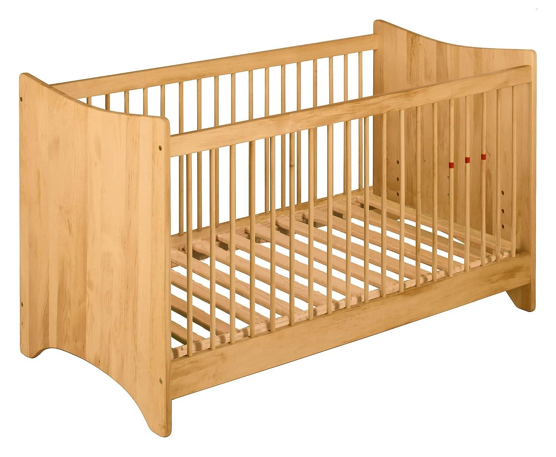 BioKinder Emma Babybett Kinderbett Gitterbett aus Massivholz Erle 70 x 140 cm