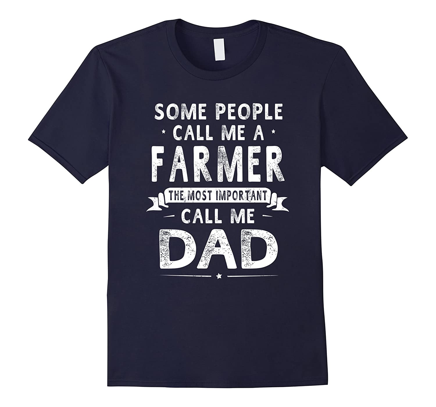Farmer Dad Fathers Day Gifts Father Daddy Men T-shirt-TJ