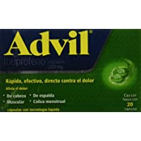 Advil FastGel, 200 mg, 20 Cápsulas