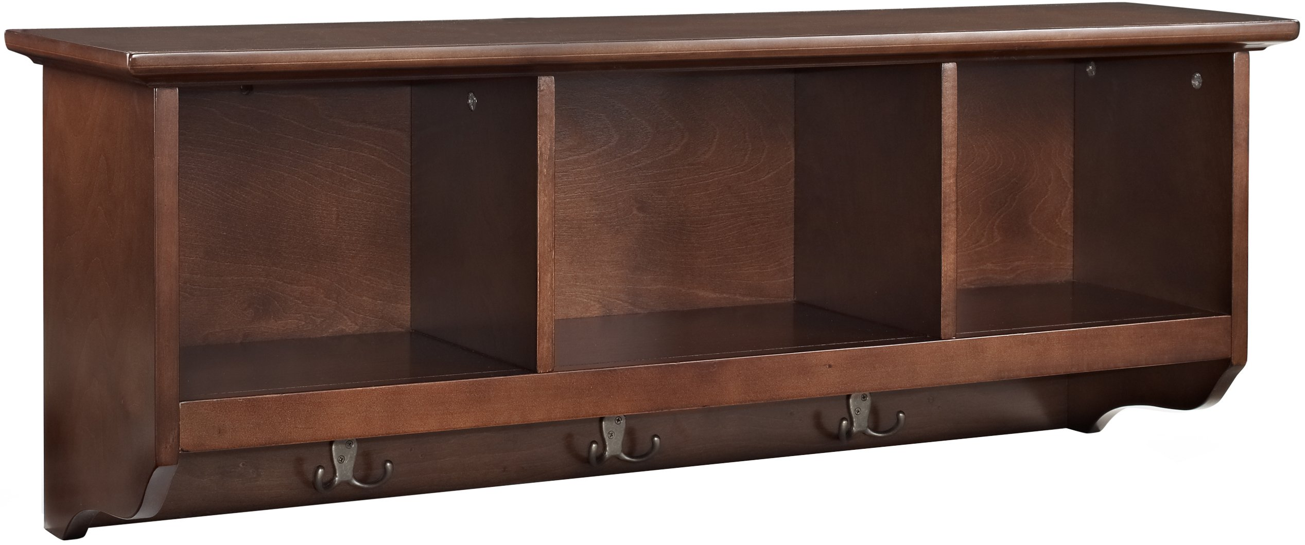 Crosley Furniture Brennan Entryway Hanging Storage Shelf - Vintage Mahogany by Crosley Furniture
