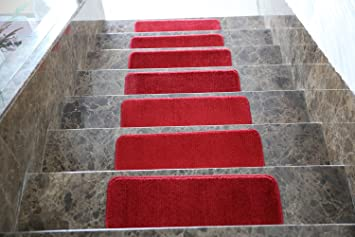 Ottomanson Softy Solid Set Of 7 Skid Resistant Rubber Backing Non Slip  Carpet (9u0026quot;