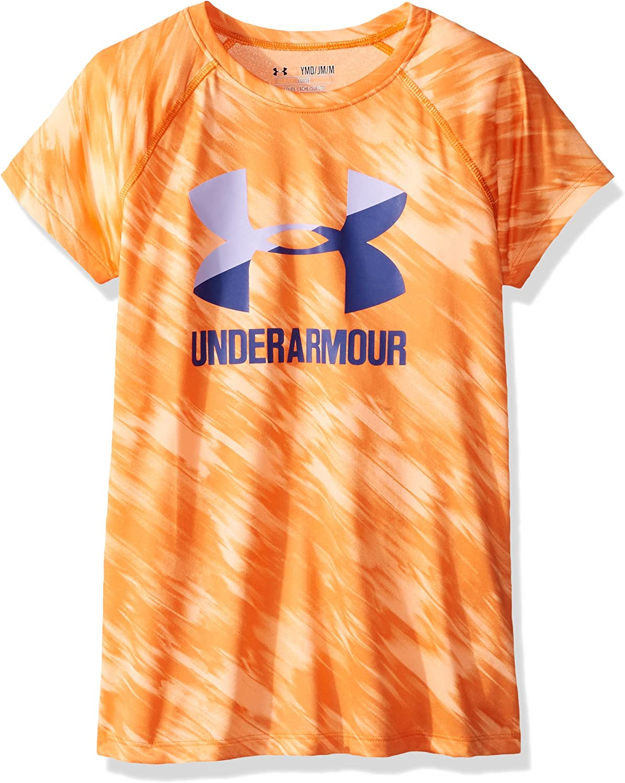 Maglietta A Maniche Corte Bambina Under Armour Big Logo Tee Novelty Ss
