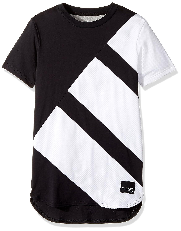 e10ab71d66c Amazon.com: adidas Originals Tops Big Boys' Kids Eqt Tee, Black/White,  Small: Clothing