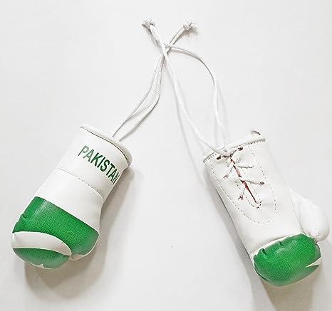 Pakistán bandera Mini guantes de boxeo un par para colgar de la novedad espejo de coches