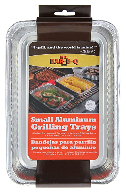 Mr Bar B Q 06692X Small Aluminum Grilling Pans