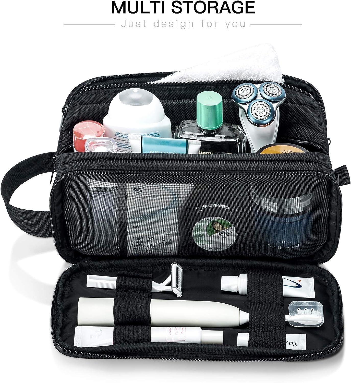 Lizzton Trousse de toilette imperm/éable grande capacit/é pour homme//femme portable voyage voyage voyage rasage Dopp kit de maquillage robuste r/ésistant /à leau salle de bain salle de sport organisateur de toilette