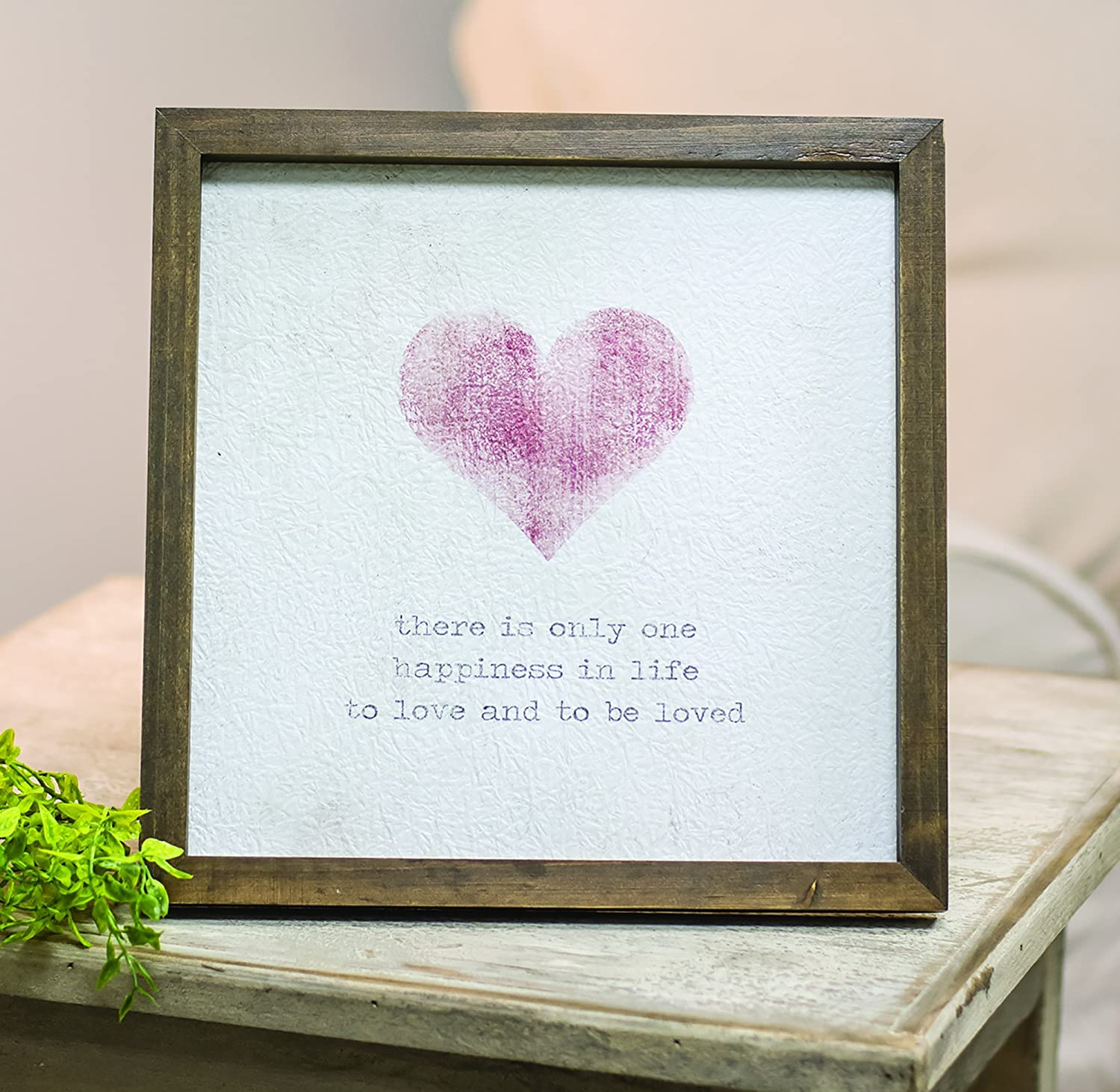 CWI Gifts One Happiness Framed Watercolor Easel Print Multicolored