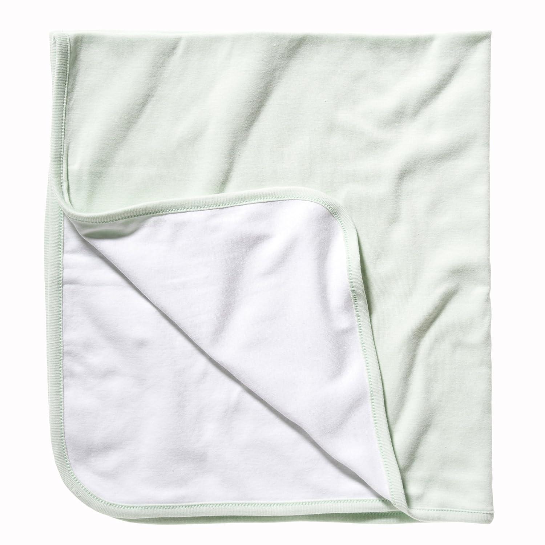 B/éb/é unisexe Taille unique Couverture r/éversible Bella Canvas Vert p/âle//Jaune p/âle