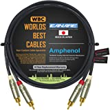4 Foot Using Mogami 2549 Wire and Eminence Gold Locking RCA Connectors Directional High-Definition Audio Interconnect Cable Pair Custom Made by WORLDS BEST CABLES