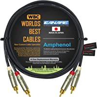 4.5 Foot RCA Cable Pair - Made with Canare L-4E6S, Star Quad, Audio Interconnect Cable and Amphenol ACPR Gold RCA…