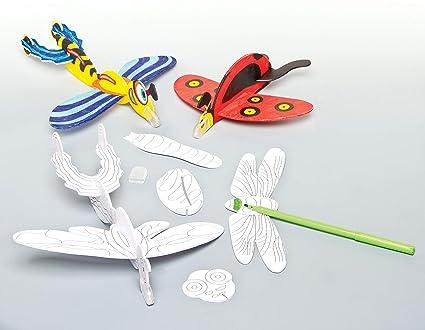 Baker Ross Planeadores Con Forma De Insectos Voladores Para Colorear