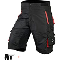 Men's Cycling MTB Shorts Off Road Team Racing Bicycle Bottom Shorts Padded Inner Liner