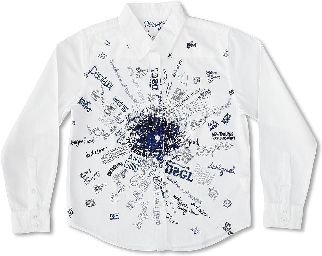 Desigual Camisa Niño Minisopa Blanco 11-12 años (146/152 cm): Amazon.es: Ropa y accesorios