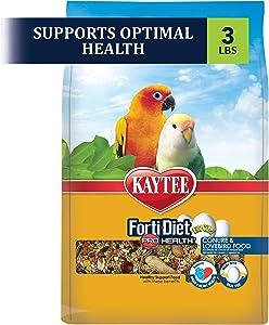 Kaytee Forti-Diet Pro Health Egg-Cite! Conure & Lovebird Food, 3-lb Bag