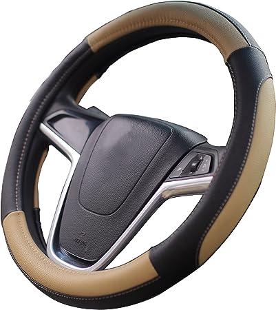 Mayco Bell Coprivolanti 38 Centimetri Comfort Durability Sicurezza Copertura del Volante dell Automobile Nero Beige