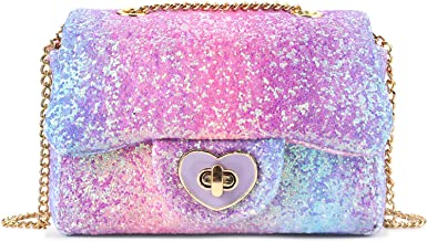 girls purse Nightmare Gray and purple glitter baby pouch Crossbody bag for toddler or little girl