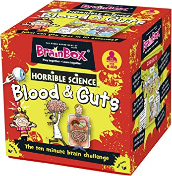 Brain Box - Blood and Guts, Juego de Mesa en inglés (90028): Green Board Games Brainbox Horrible Science Blood and Guts: Amazon.es: Juguetes y juegos