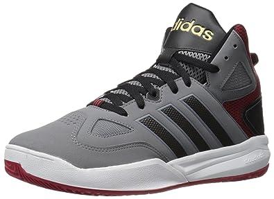 huge selection of c7bc8 993ff adidas Mens Cloudfoam Thunder mid-m Basketball Shoe GreyBlackUniversity  Red 9.5