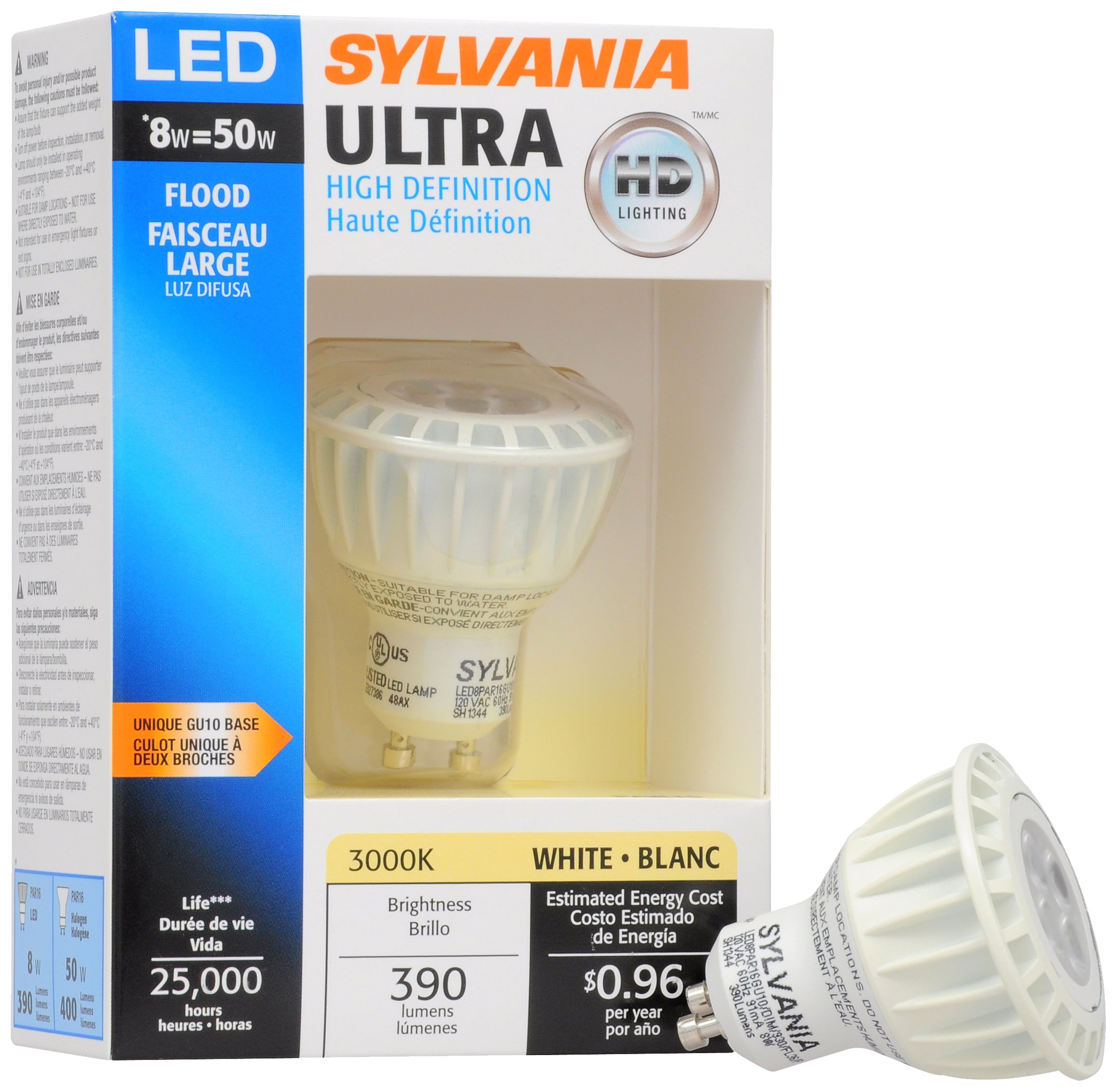 Sylvania 72547 ULTRA HD Professional Series LED PAR16 GU10 36-Degree Beam