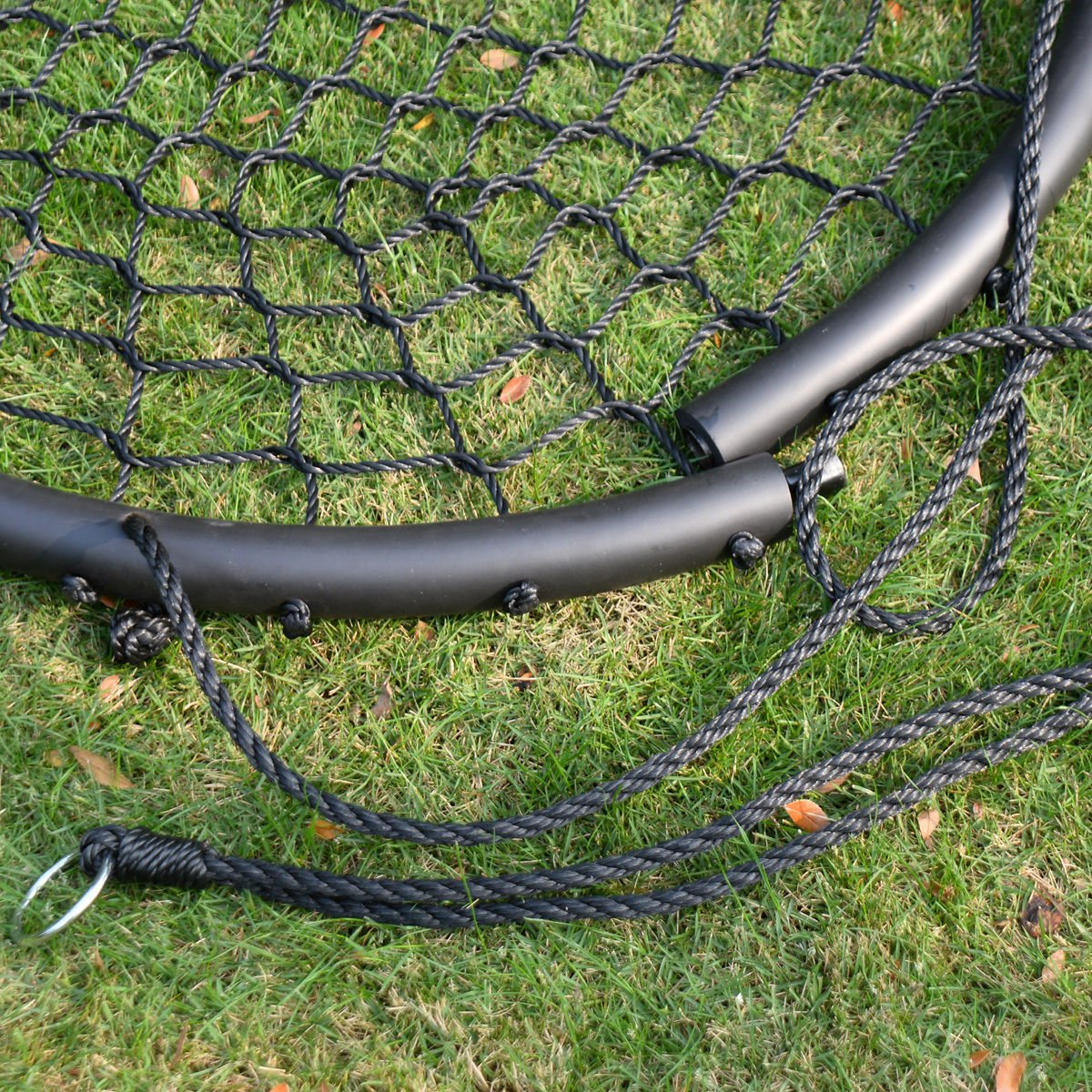 Platform Tree Spider Web Swing Kid Mesh 220 LBS 40'' Wide Hook Hanger Black Standard Web Hangers - House Deals by House Deals (Image #5)