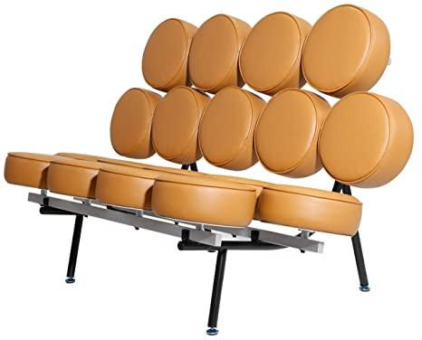Amazon.com: MLF Nelson Marshmallow sofá importados de piel ...