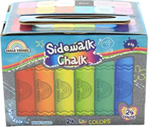 amazon com chalk trendz sidewalk chalk non toxic washable