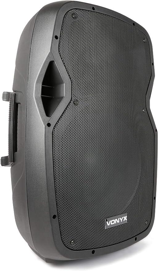 Vonyx Ap1500abt 15 Aktiver 800 Watt Lautsprecher Mit Bluetooth Usb Und Sd Zum Abspielen Von Mp3 Musikinstrumente