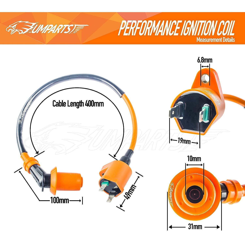 Amazon.com: UMPARTS Racing Ignition Coil for Kawasaki Klx110 KLX DRZ 110  Drz110 Drz70 70 Cc: Automotive