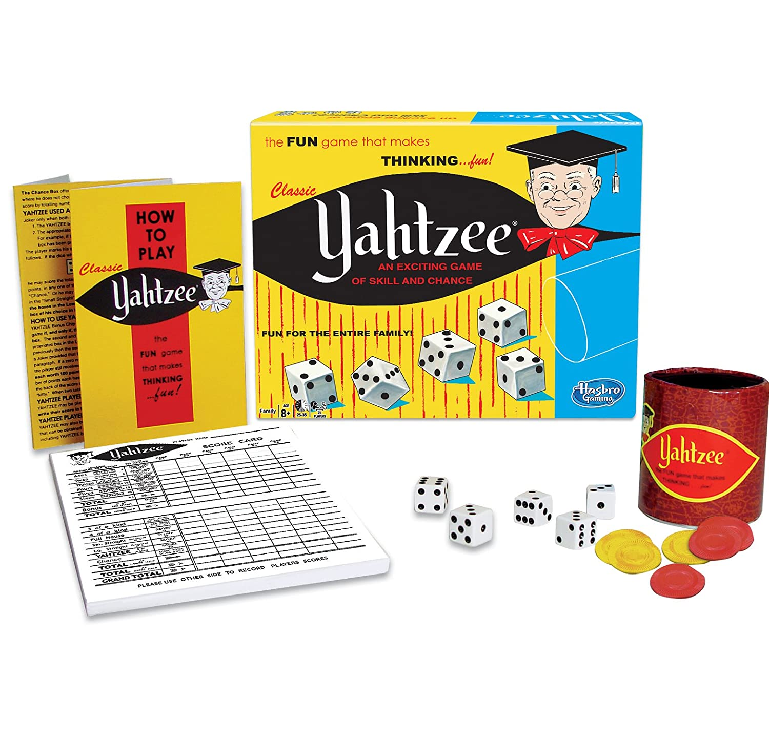Classic Yahtzee, An Exciting Game Of Skill And Chance Rejects from Studios 1167 Accessory Consumer Accessories