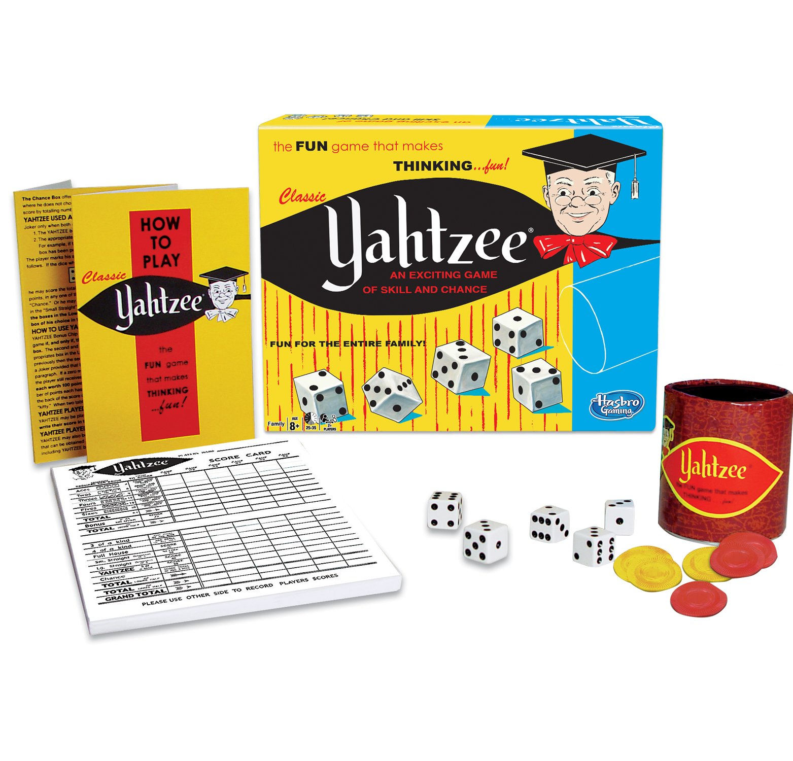 Classic Yahtzee, An Exciting Game Of Skill And Chance by Winning Moves Games