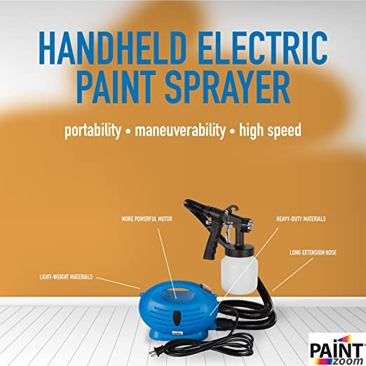 Paint Zoom Handheld Electric Spray Gun Kit | 625 watt Spray Gun Tool for  Interior & Exterior Home Painting HVLP