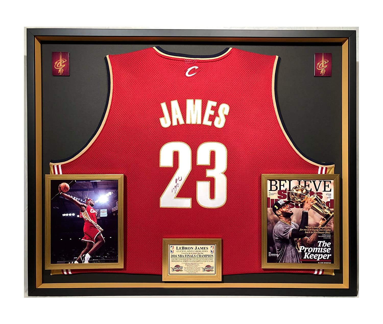 online store aaff3 2589e Premium Framed Lebron James Autographed/Signed Cleveland ...