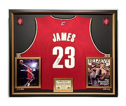 online store 34c84 d5f39 Premium Framed Lebron James Autographed/Signed Cleveland ...