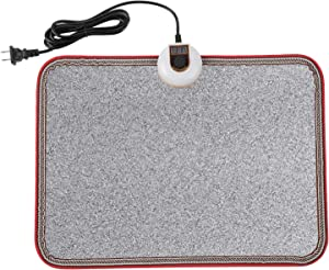 Livtribe AC 110V Heated Floor Mat for Foot, Gray Carbon Crystal Heating Pad, Electric Heated Foot Warmers for Office, Home