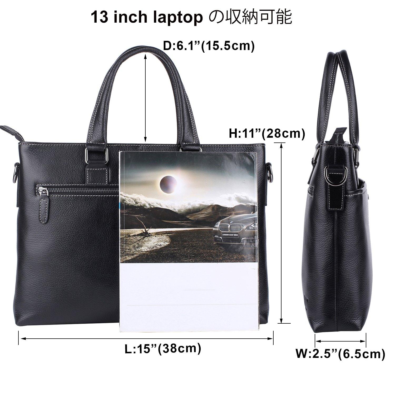 Banuce Genuine Leather Briefcase for Men Women Shoulder Messenger Bag Executive Bussiness Tote Laptop Bag by Banuce (Image #3)
