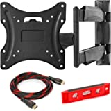 MOUNT FACTORY Articulating Swivel Full Motion TV Wall Mount Bracket for 22-42 inch TV