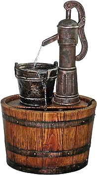 Cisterna de bombas para pozos barril fuente jardín: Amazon.es: Jardín