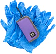 Gloves Travel case with 5 Pairs of Nitrile Gloves (Purple)