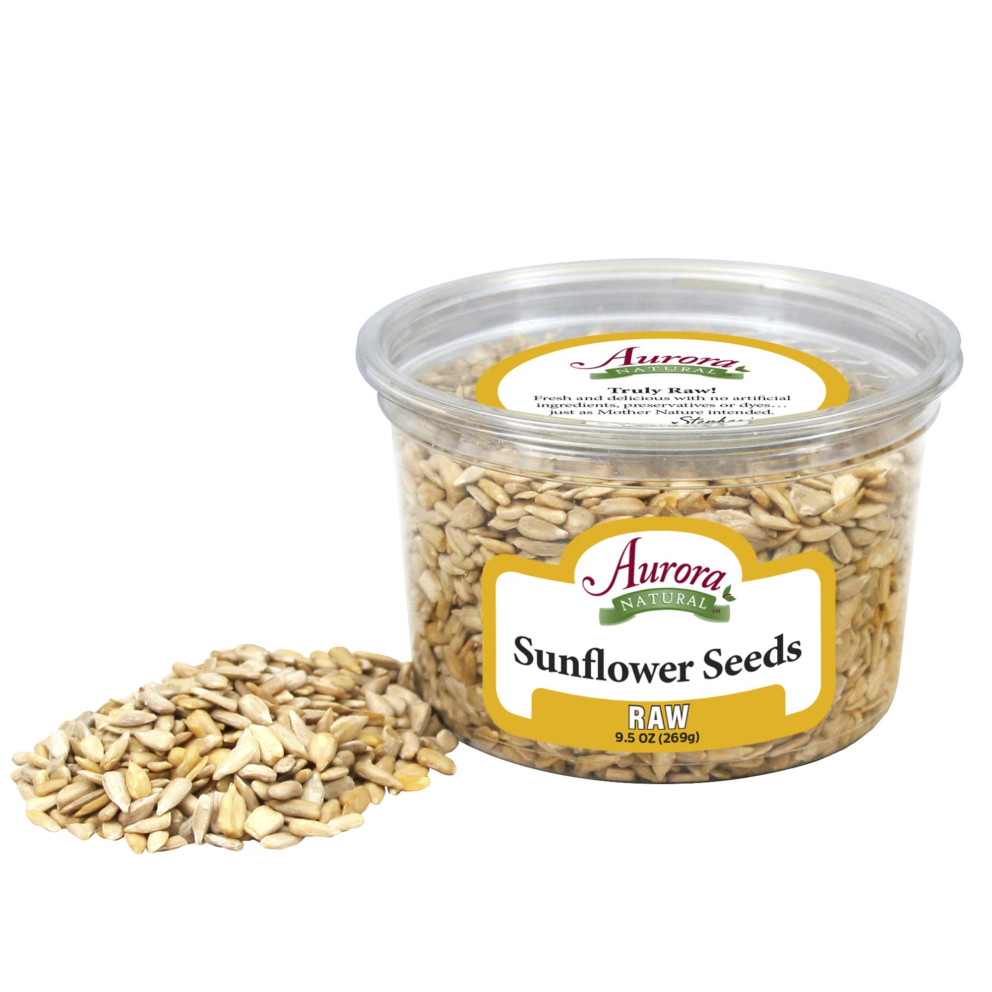 Aurora Natural Products Raw Sunflower Seeds, 9.5 Ounce (Pack of 12)