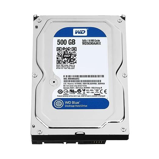 196 opinioni per WD WD5000AAKX Blu Hard Disk Desktop da 500 GB, 7200 RPM, SATA 6 GB/s, 16 MB