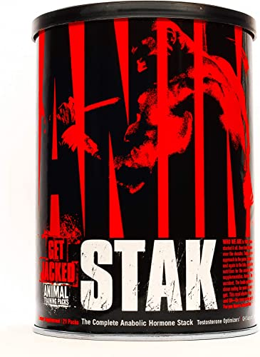 Animal Stak – Natural Hormone Booster Supplement with Tribulus and GH Support Complex – Natural Testosterone Booster for Bodybuilders and Strength Athletes – 1 Month Cycle