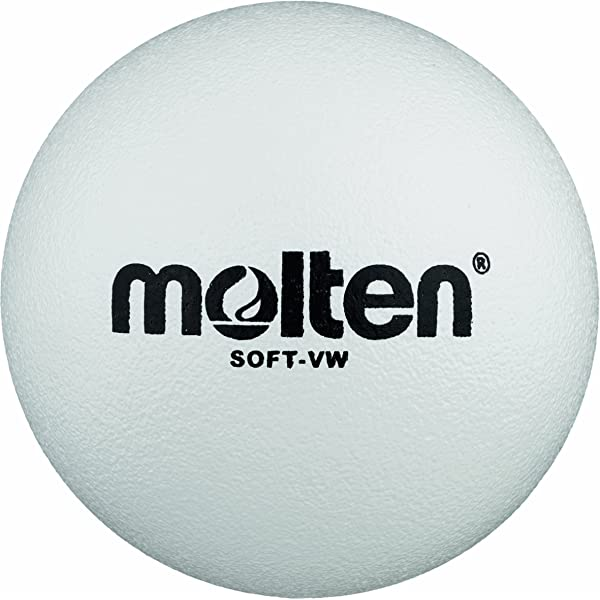 Molten Soft-VW - Pelota Blanda de Voleibol (210 mm), Color Blanco ...