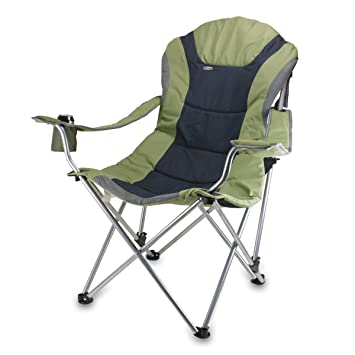 Perfect Picnic Time Portable Reclining Camp Chair, Sage/ Gray