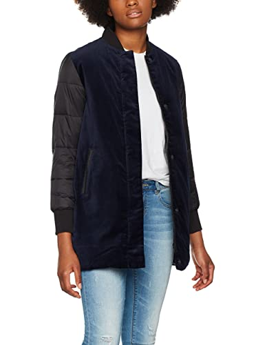 Calvin Klein Jeans Ondrea Padded Long Mixed Media, Chaqueta Bomber para Mujer