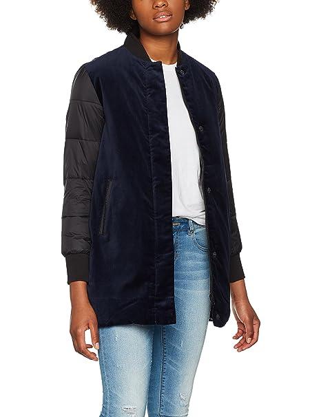Calvin Klein Jeans Ondrea Padded Long M, Abrigo para Mujer, Azul (Dark Blue