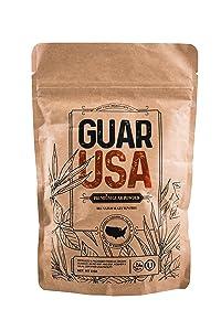 Guar Gum Powder 100% USA made!!! Food grade,100% Natural, Gluten Free & Vegan. Made from USA grown Guar Beans, Kosher & Halal certified. Perfect for baking, cooking & Ice cream making (8 OZ)